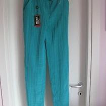 Versace Silk  Pants Sz 40 Made Italy Brand New  Schick Turquoise Photo