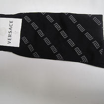 Versace  Socks  Size Large 100% Cotton Made in Italy Nwt   Photo
