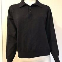 Versace Sport Long Sleeve Navy Blue Knit Jumper Vintage Photo
