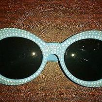 Versace Sunglasses Blue With Rhinestones  Photo