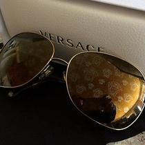 Versace Sunglasses Mod. 2124 (Gold) Nwt Photo