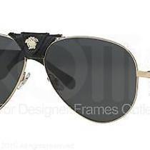 Versace Sunglasses Ve 2150q 100287 Gold 62mm Photo