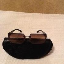 Versace Sunglasses With Versace Logo and Stones on Sides Photo