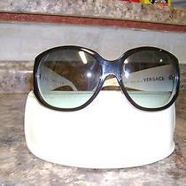 Versace Swarovski Crystal Rhinestones Flower Sunglasses Italy Mod 4149-B Photo