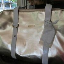 Versace Travel Bag Gold Patent Leather  Rare Photo