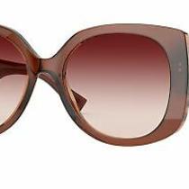Versace Ve4387f Sunglasses Transparent Brown Rectangle 56mm New & Authentic Photo