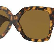 Versace Ve4402 Sunglasses Women Havana Rectangle 59mm New & Authentic Photo