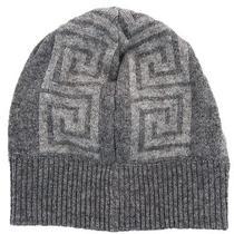 Versace Vhb0106 001 Grey Knitted Beanie Hat Photo