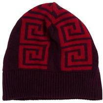 Versace Vhb0106 002 Red Knitted Beanie Hat Photo