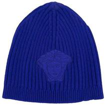 Versace Vhb0278 003 Purple Knitted Beanie Wool/cashmere Blend Hat Photo
