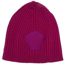 Versace Vhb0278 006 Fuchsia Knitted Beanie Wool/cashmere Blend Hat Photo