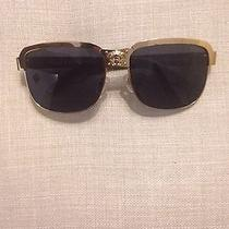 Versace Vintage Sunglassesblack Gold grey.new Photo
