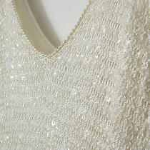 Versace White Sequin Dress  Photo