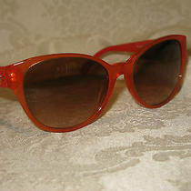 Versace Women's Red and Orange Sunglasses. New. Authentic. Model 4272. Photo