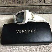 Versace Women's Virtus White Sunglasses - Pre-Owned Photo