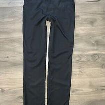 Versace Womens Black Polyamide Elastane Straight Leg Pants 30/44 Sz 8 Photo
