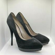 Versace Womens Black Suede Medusa Platform Stilettos Size 40 Photo