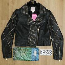 Versace X h&m Black Leather Biker Jacket - Uk16 Us12 Eu42 - Excellent Condition Photo