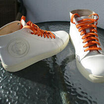 Versus Versace White Lace-Up Lion Head Leather High Sneakers - Size 40 Photo