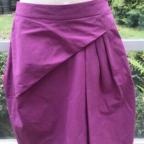 Versus Versace Womens Stuctured Bright Purple Pink a Line Skirt Us 6 It 42 Uk 10 Photo