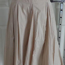 Very Full Swing Beige a-Line Skirt/100% Cotton/knee/lined  Grace Elements  6  Photo
