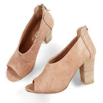 Very G Womens Swoop Peep Toe Classic Pumps Blush Size 7.5 Lre7 Photo