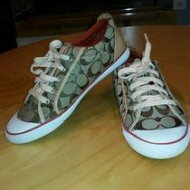 Very Gently Worn Coach Barret Sneakers Shoes Womens Size 10  Photo