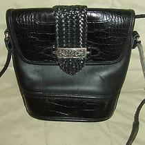Very Nice Black Leather Brand Name Brighton Cross Body Handbag Photo