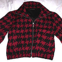 Very Nice Express Design Studio Dress Jacket -Red & Black Patterned - Sz Small S Photo