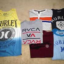 Very Nice Lot 6 Rvca Hurley Element Hawk Skate/surf S/s  T Shirt Men L Photo
