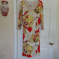 Very Nice Sara Campbell  Multicolor Silk Dress Sz L Photo