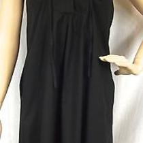 Very Nice Theory Black Sheath Dress Size 2 Made in Usa Photo