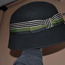 Very Nice Womens Hat Black With Bow by Amanda Smith One Sz Wool Made in Italy Photo