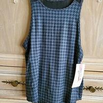 Very Pretty Ladies Yoga/exercise Wear Tank Top  Black & Grey  Sz Xs    Nwt Photo