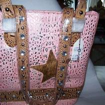 Very Pretty Pink W/silver Crocrhinestone & Studded Handbagit's a Bling Thing Photo