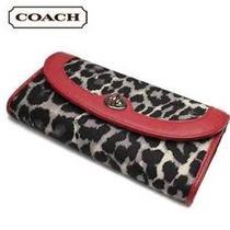 Very Rare Coach Parker Wallet Red Black Black Gray Hot Item Model F49503 Handbag Photo