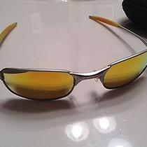 Very Rare Oakley Square Wire 2.0 Fire Iridium Lenses Sunglasses Spring Hinges Photo