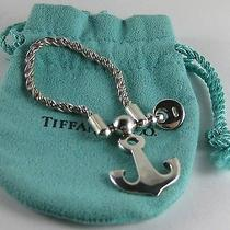 Very Rare Vintage Tiffany Sterling Silver 925 Anchor Key Chain Pristine Photo