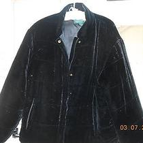 Very Soft Ladies Large Ralph Lauren Black Coat Photo