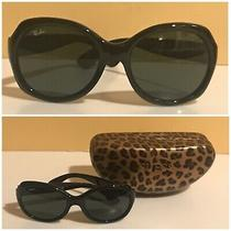 Very Vintage Womens' Ray Ban Large Sunglasses 4191 / Guess Leopard Hard Case Too Photo