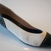 Very Vogue Vixen Vintage Life Stride Lifestride White Blue Pumps Shoes Size 6 Photo