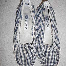Very Well Worn Women's Size 7 Roxy Checkered Loafer Flats Photo