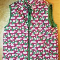 Vest by Burton Size Large Reversible Colorful Pattern Green & Pink Full Zip  Photo