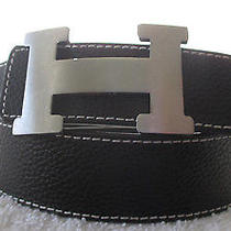 Vg Stunning Hermes Black  Belt - L Photo