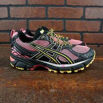 Vgc Asics Gel-Kahana 6 Womens Size 8.5 Trail Running Shoes Pink Yellow Black Photo