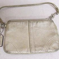 Vgc Coach Gold Shimmer Metallic Leather Wristlet Photo