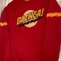Vgc Hardly Worn Big Bang Theory Red Sweater Size Small Photo