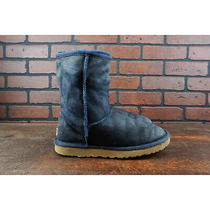 Vgc Ugg Australia 5825 Classic Short Boots Womens Size 7 Blue Suede Leather Photo