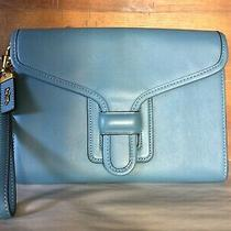 Vguc Coach Courier Wristlet in Pacific Blue Photo