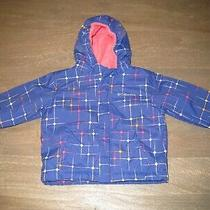 Vguc Columbia Fleece-Lined Waterproof Jacket in Blue. Girls 18 Months Photo